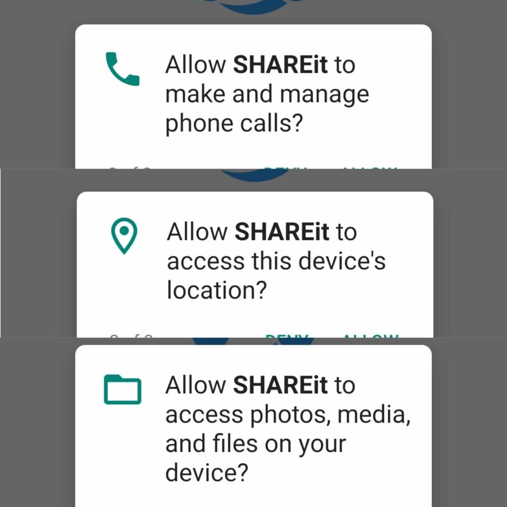 SHAREit Alternatives (Permissions)