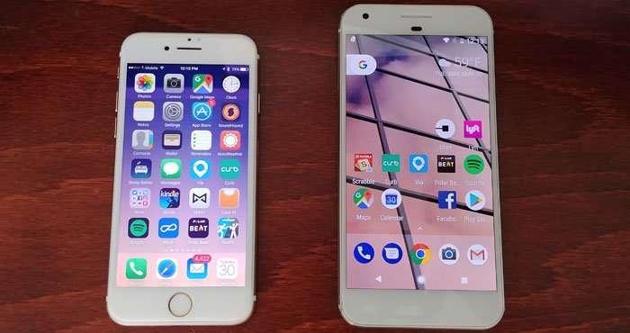 iOS vs Android: Homescreen