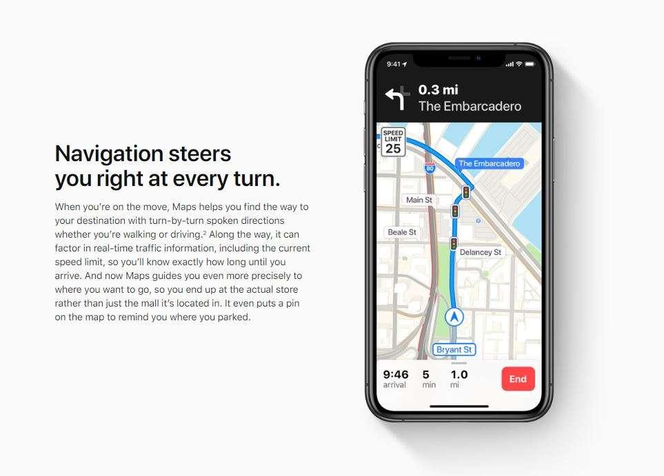 Apple Maps Navigate