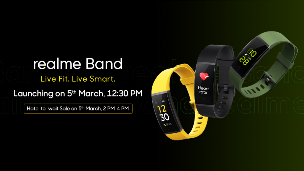 realme band launch price
