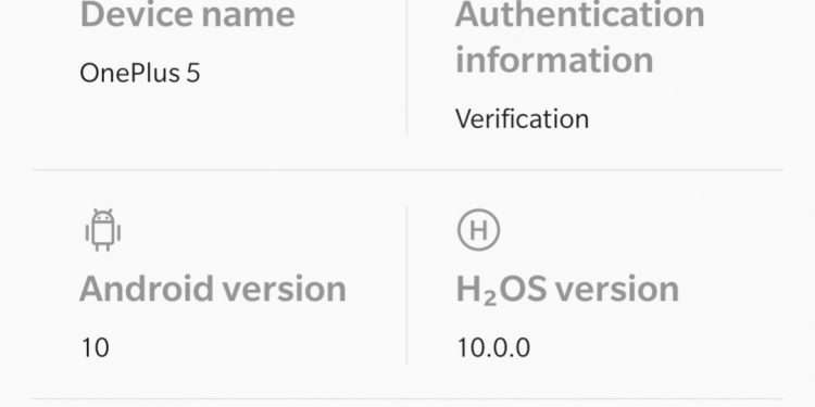 H2OS - OnePlus 5 Android 10