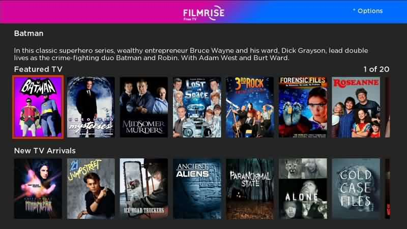 Filmrise - Free Movie Apps