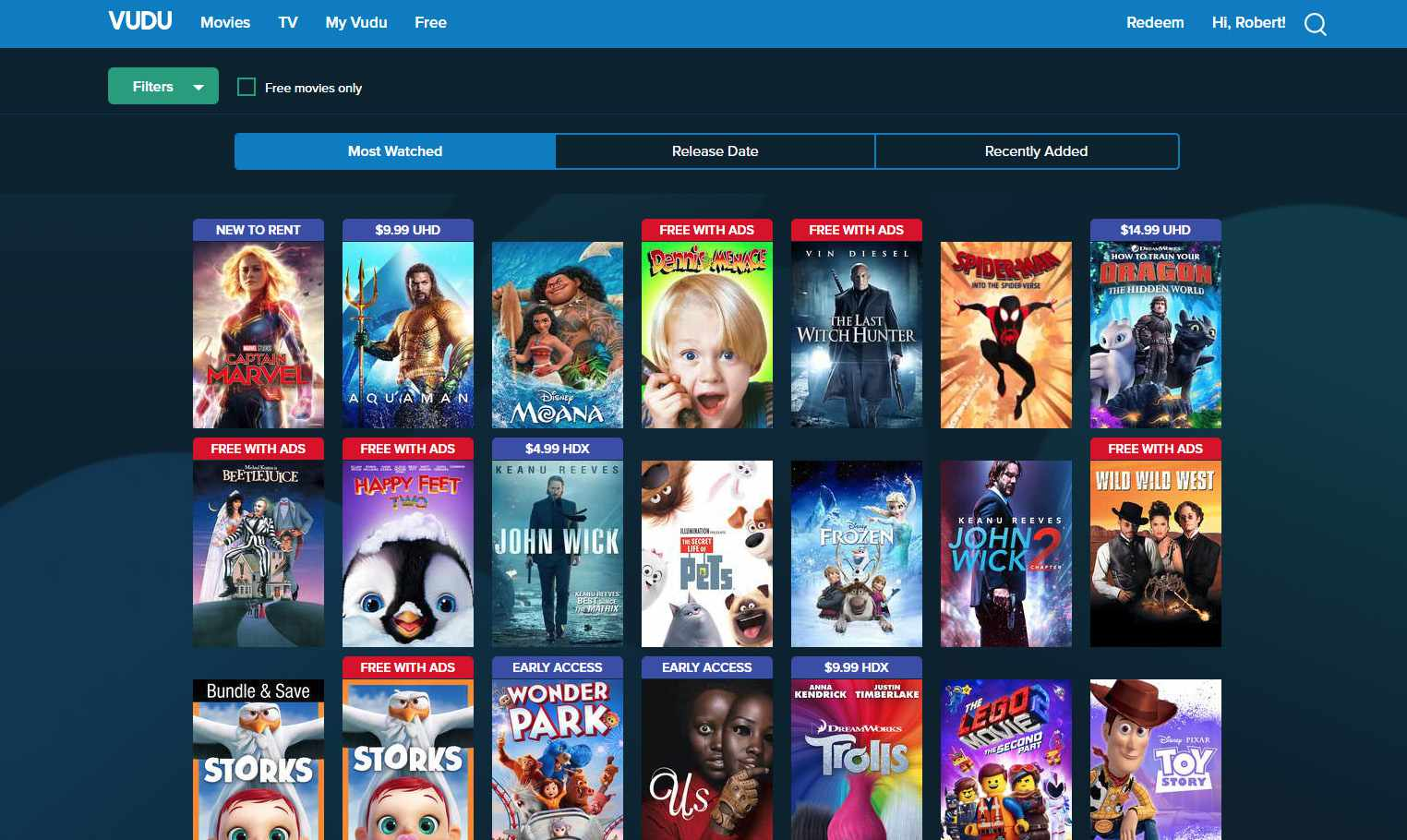 Vudu - Free Movie Apps