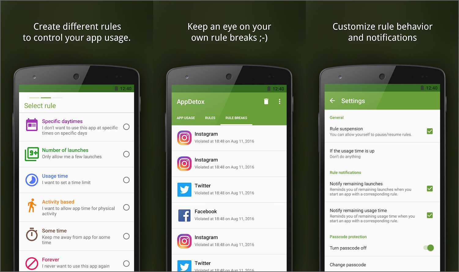 AppDetox - Best Android Apps April 2020