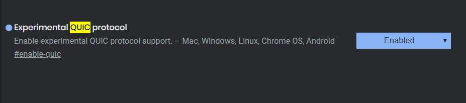 Experimental QUIC Protocol - Best Google Chrome Flags
