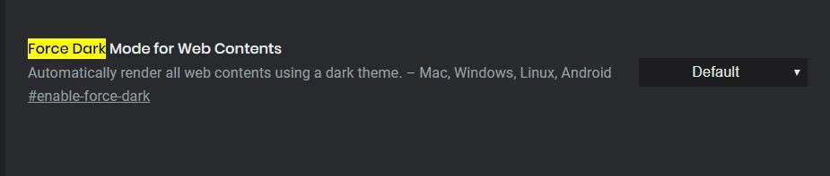 Force Dark Mode For Web Contents - Best Google Chrome Flags