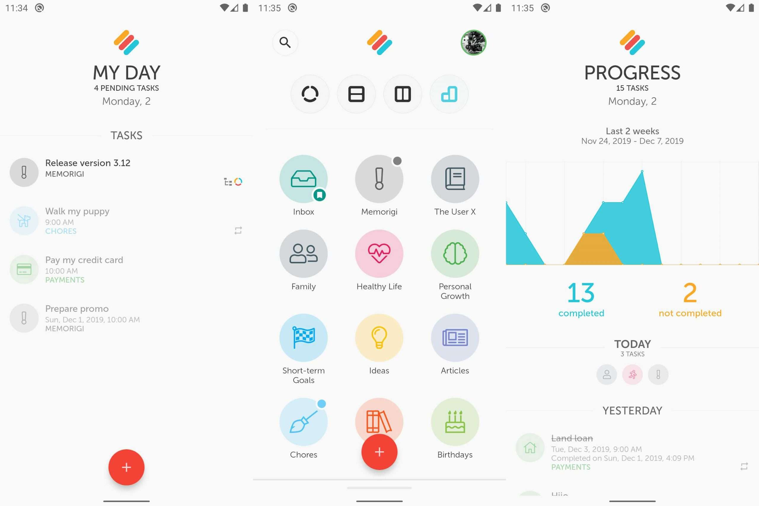 Memorigi - Best Android Apps April 2020