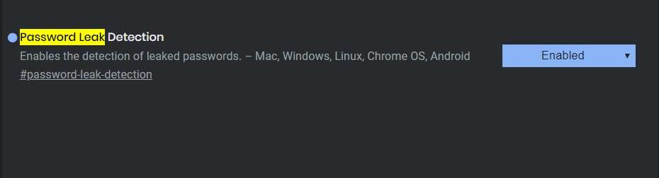 Password Leak Detection - Best Google Chrome Flags