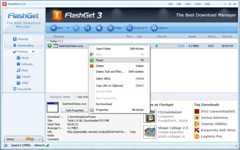 FlashGet - IDM Alternative