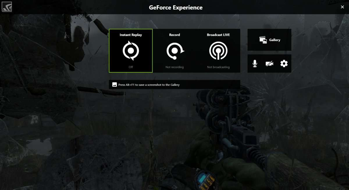 Nvidia GeForce Experience ShadowPlay - Best Game Recording Software for Windows