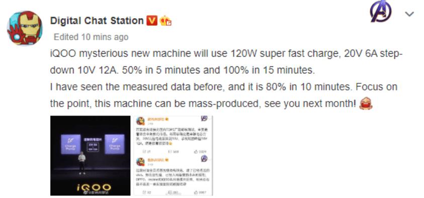 125W fast charging