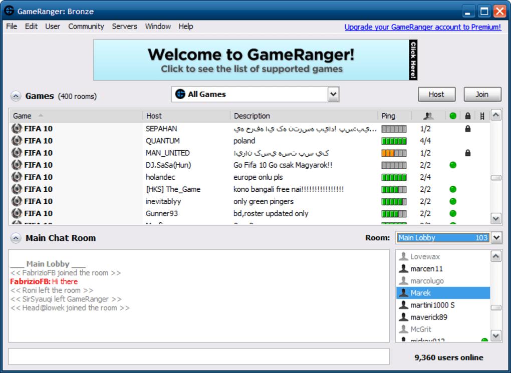 GameRanger - Best Hamachi Alternatives for Virtual LAN Gaming