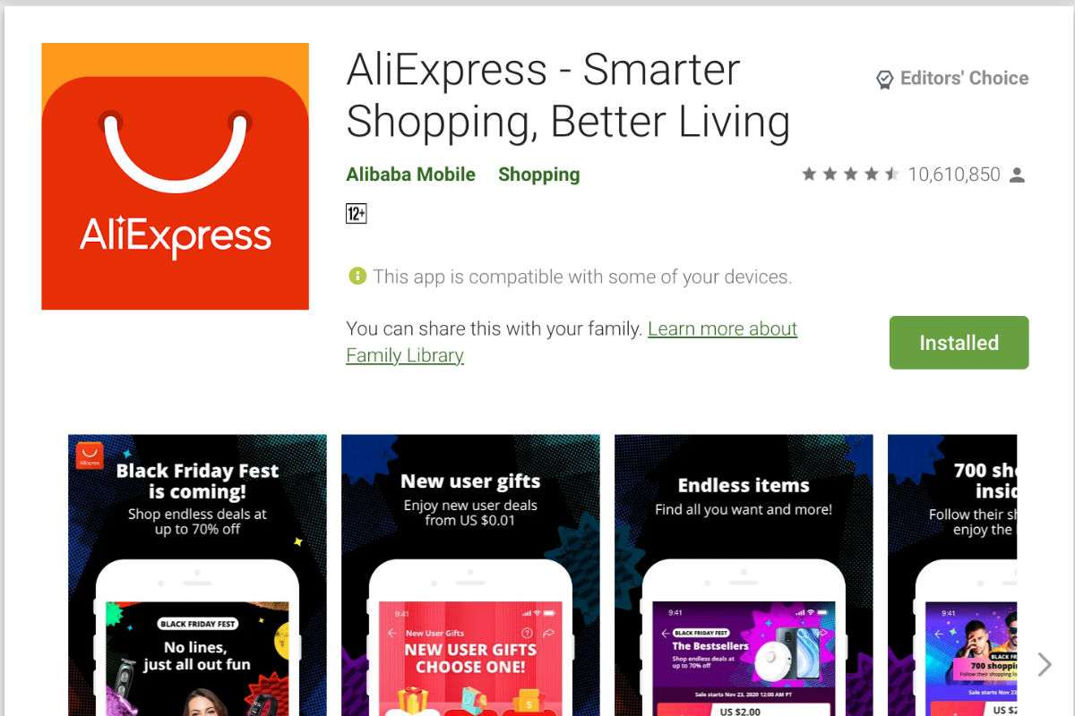 43 AliExpress Chinese Apps Banned