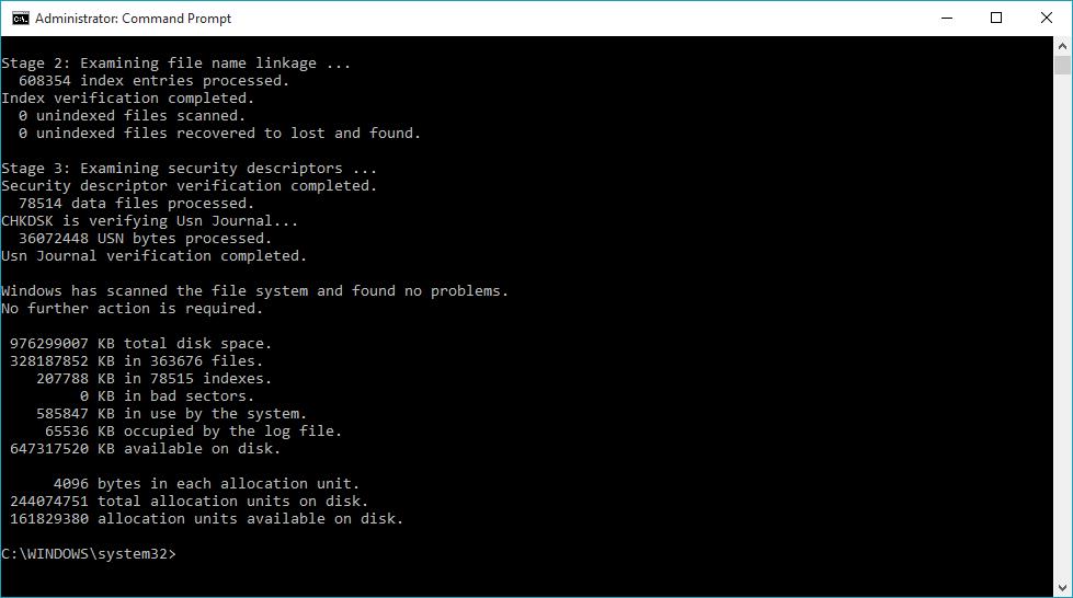 Fix WHEA Uncorrectable Error (0x0000124) using CHKDSK