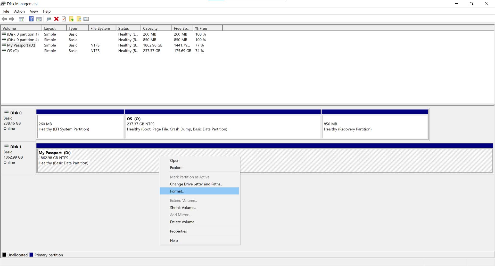 Format External Hard Drive - External Hard Drive Not Showing Up