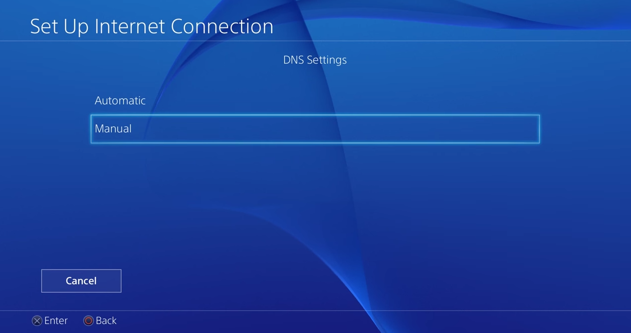 Manual DNS Settings PS4