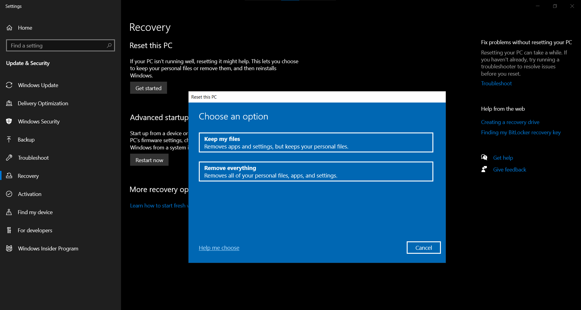 Fix WHEA Uncorrectable Error (0x0000124) by Resetting Windows 10 PC