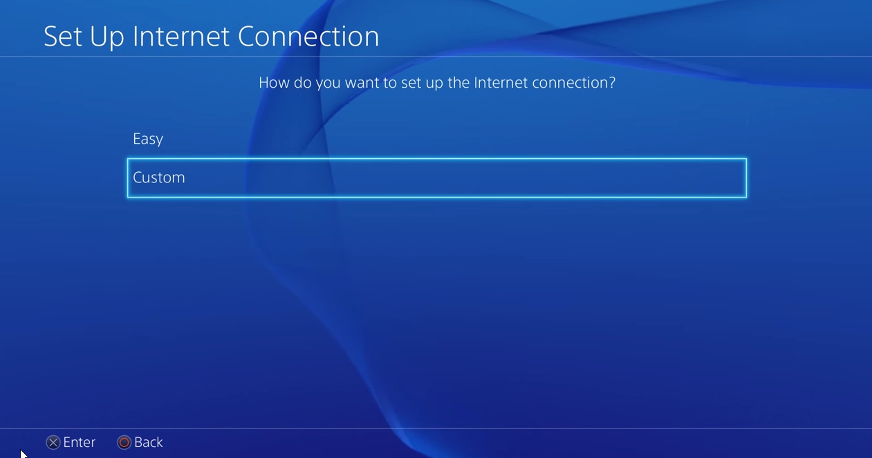 Set Up internet connection