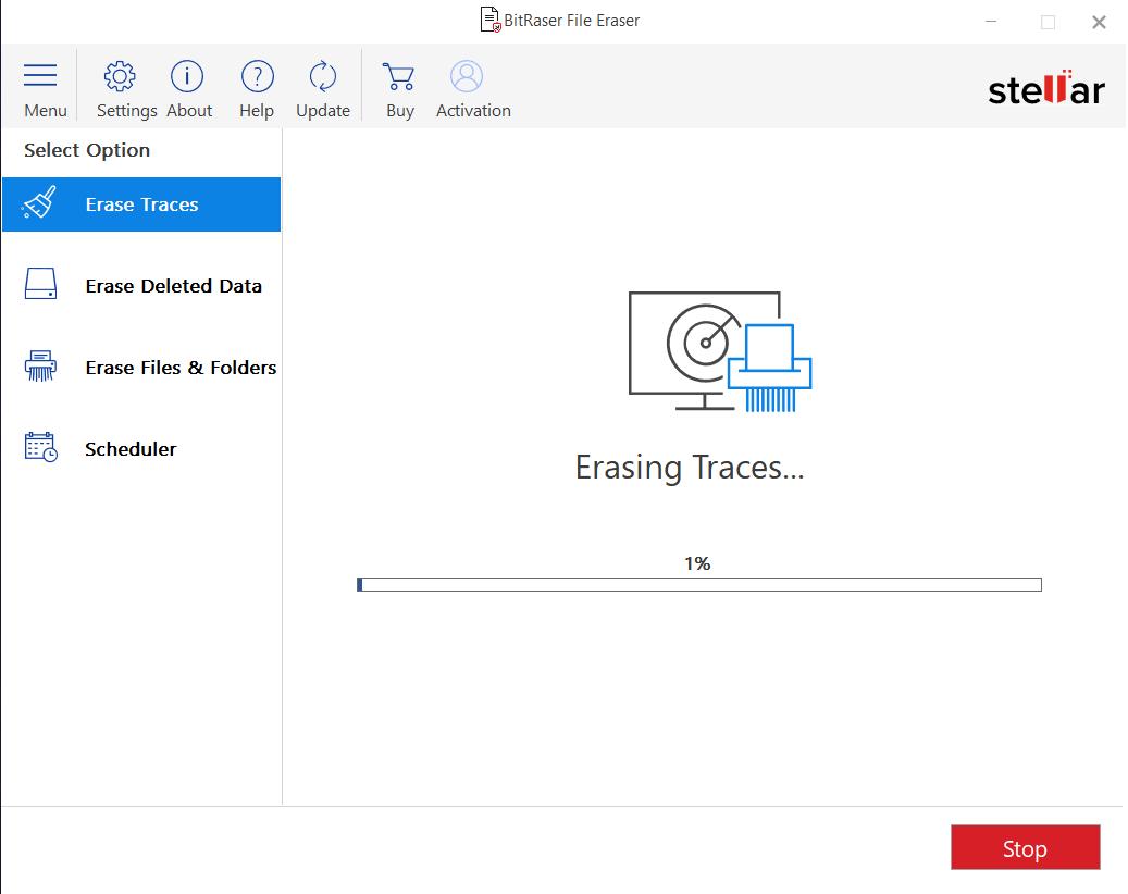 BitRaser File Eraser - Erasing Traces