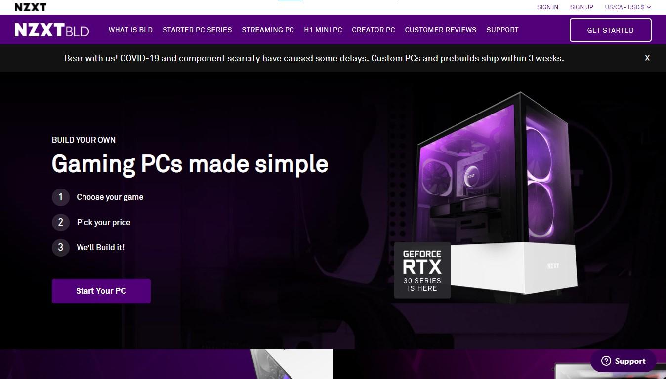 Custom PC Builder - BLD by NZXT