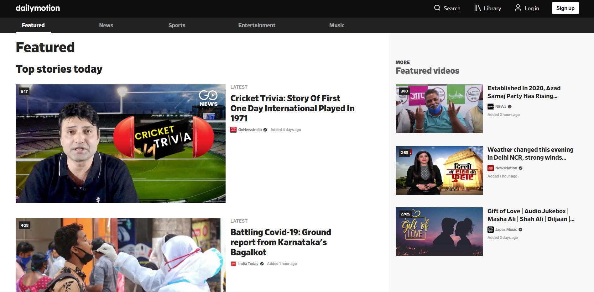 Best YouTube Alternatives - Dailymotion