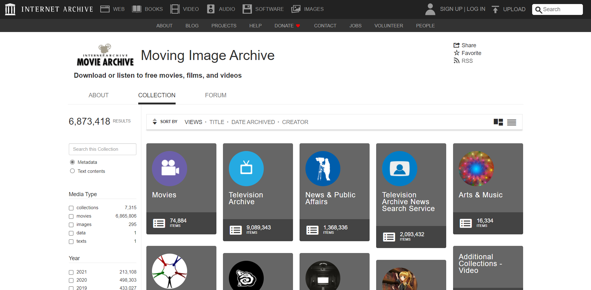 Best YouTube Alternatives - The Internet Archive (The Movies Archive)