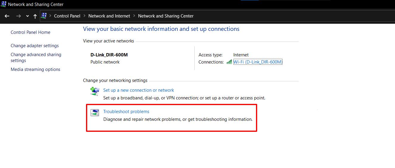 Fix No Internet Access using Windows 7 Network Troubleshooter