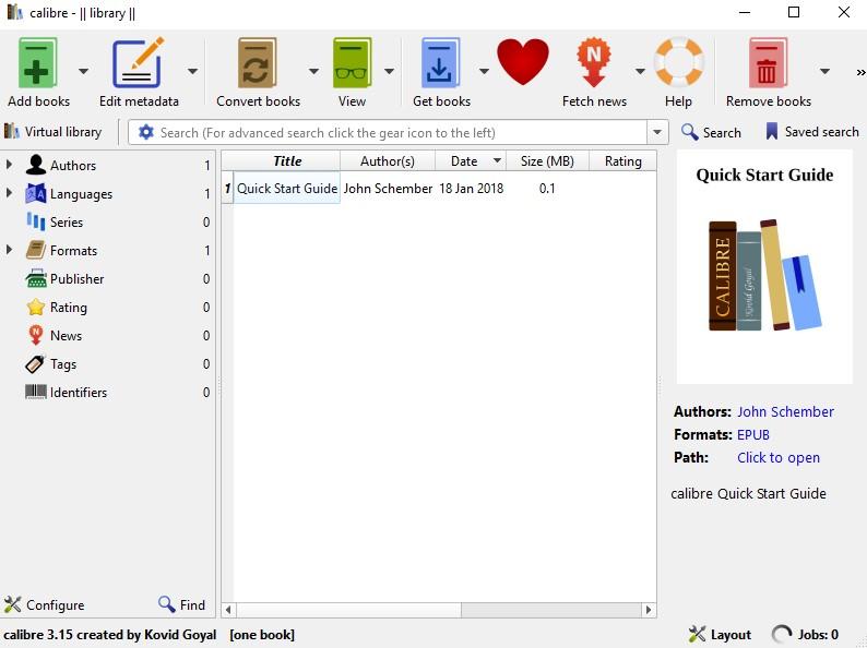 Kindle to PDF: Calibre converter tool