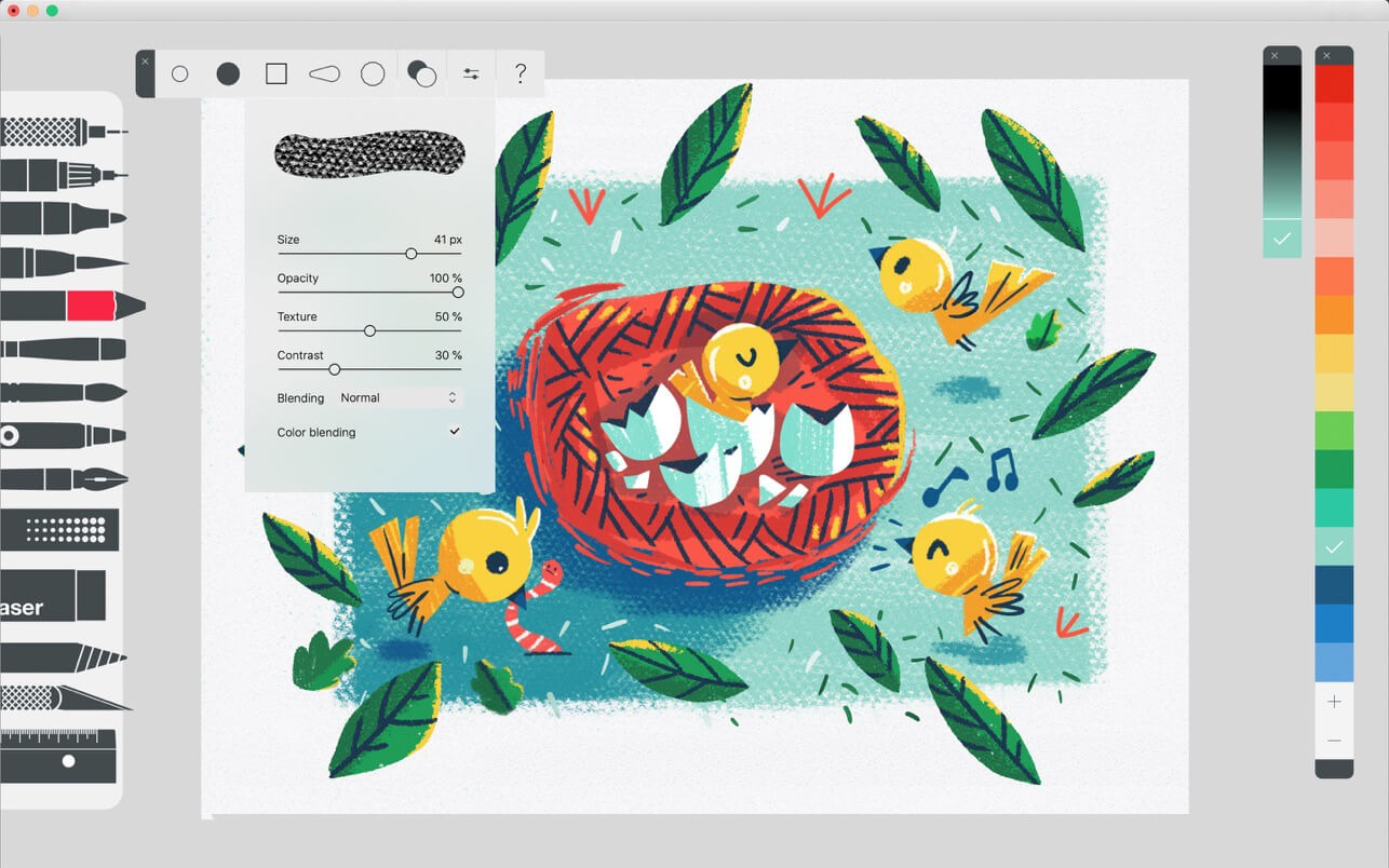 Best Procreate Alternative for Android: Tayasui Sketches